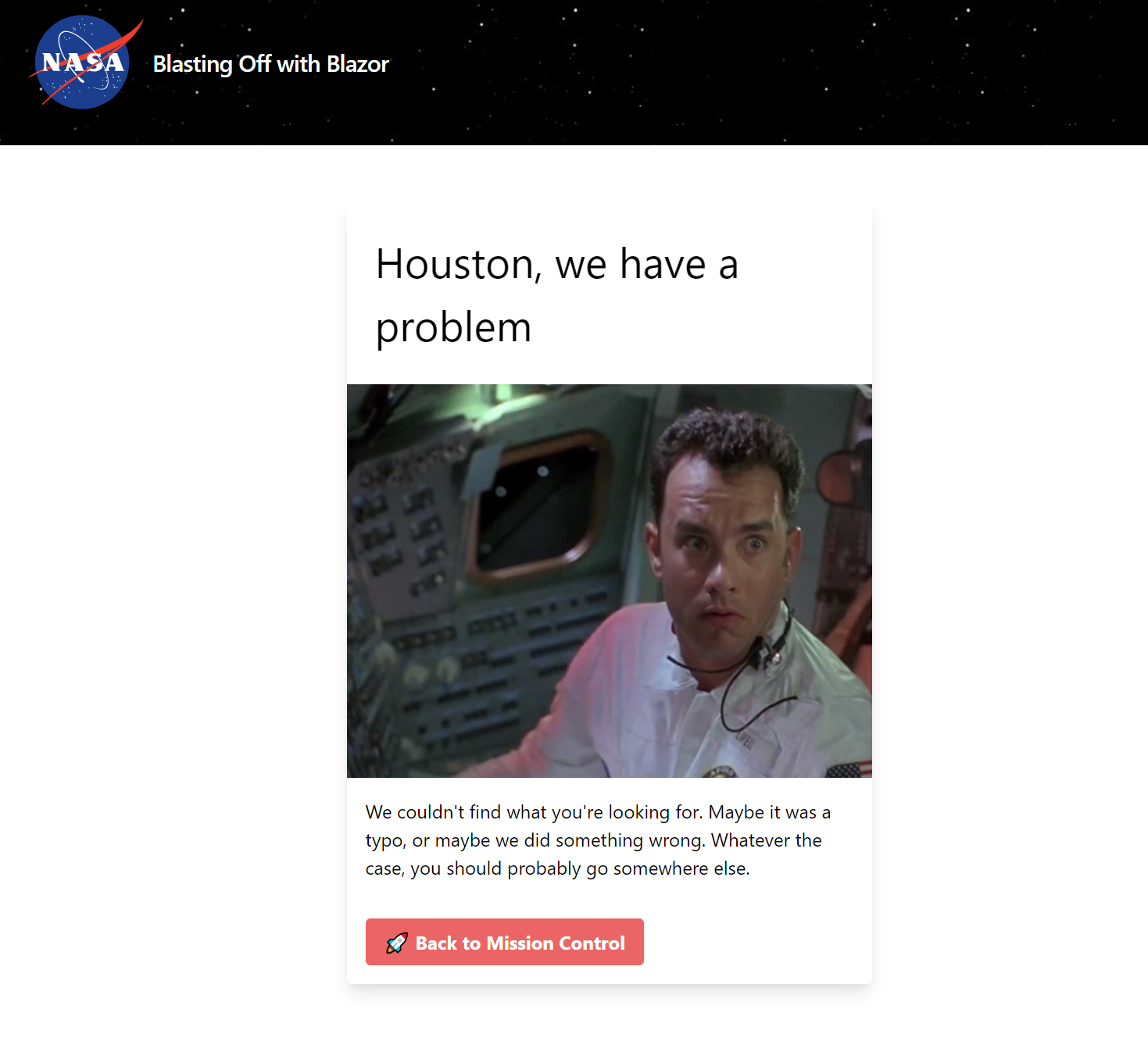 Our 404 page