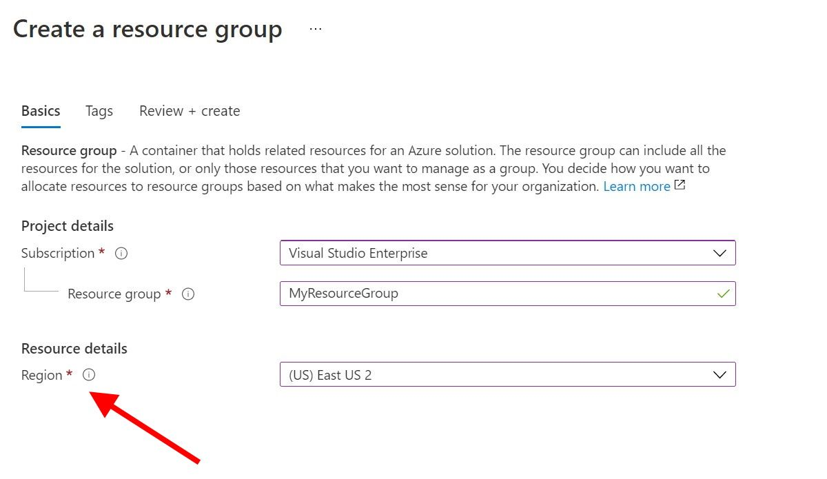 Create resource group in the portal